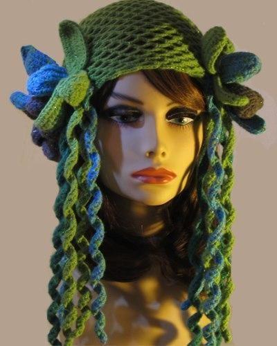- Forest Fairy Crochet Net Skullcap Hat