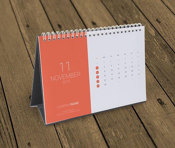 Desk Calendar 2015 Template KB10-W8 on Behance | Desk calendar design, Desk calendar template ...