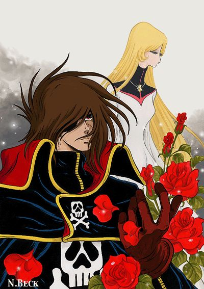 Harlock, Maya and the roses of love