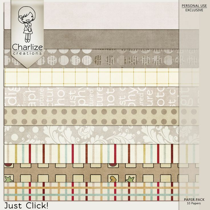Oscraps :: Shop by Designer :: Charlize Creations :: Just Click! Paper Pack