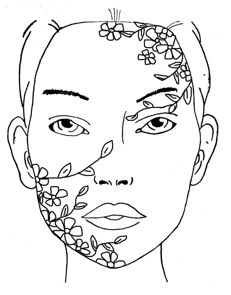 Floral design for make-up fantasy #makeup #fantasy #floraldesign #artwork