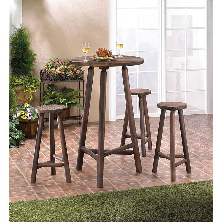 alaska wooden bar 4piece table set alaska wooden bar table set of 4