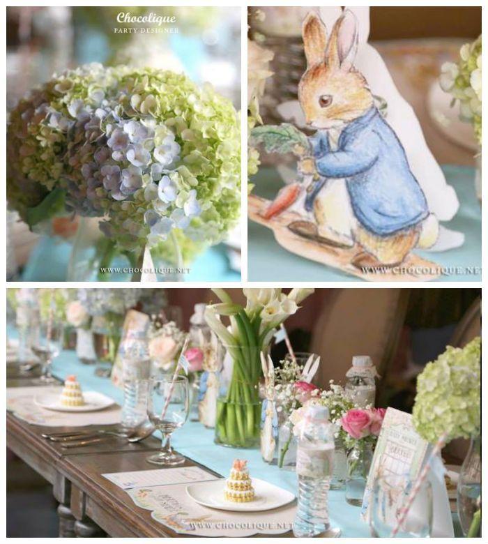 Peter Rabbit themed baby shower via Kara's Party Ideas KarasPartyIdeas.com Decor, printables, favors, desserts, food, and more!
