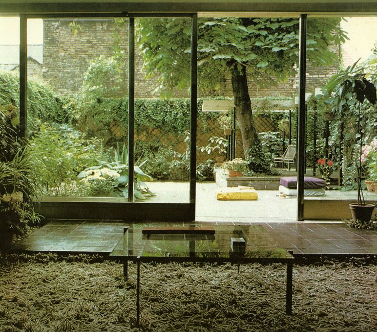'Grass' shagpile inside, paving outside! THE HOUSE BOOK | Terence Conran ©1976