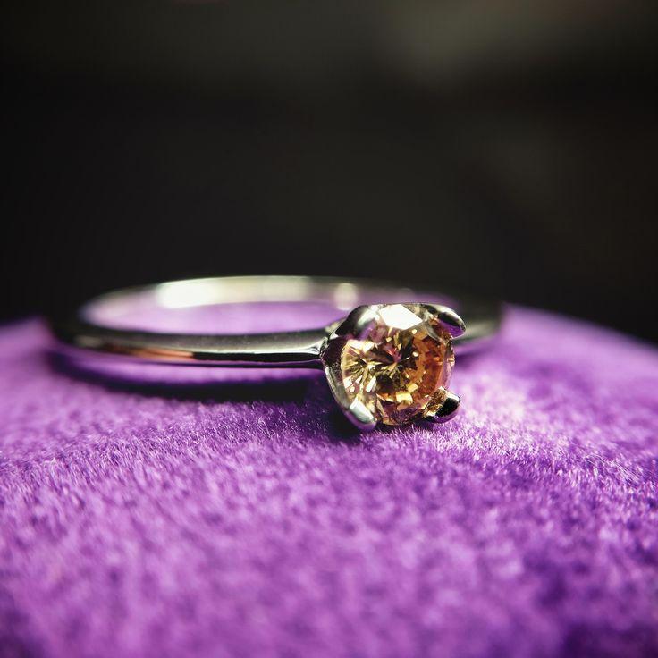 White Gold Engagement Ring with Brown Solitary Brilliant Cut Diamond 0.26ct    #adamevediamonds #adpersonam #accessories #rings #jewels #jewelrydesign #gems #marriage #gemstone #jewelry #jewellery #gold #jewel #jewelrygram #showmeyourrings #jewelryaddict #finejewelry #ring #diamond #diamonds #engagement #engaged #bridetobe #weddinginspiration #bridal #bride #engagementring #weddingring #diamondring #proposal