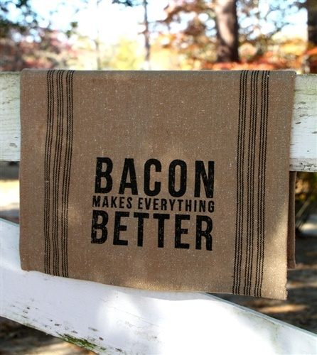 Bacon Tea Towel. Use promo code 'All' to get 15% off your entire order from the All Inspired Boutique.