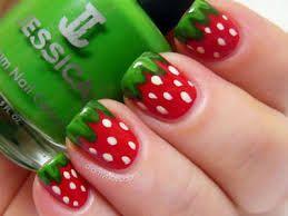 Watermelon fingernails