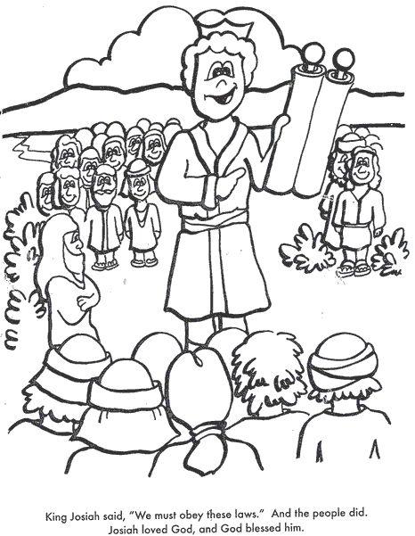 Bible Coloring Pages King Josiah Bible Josiah Pinterest