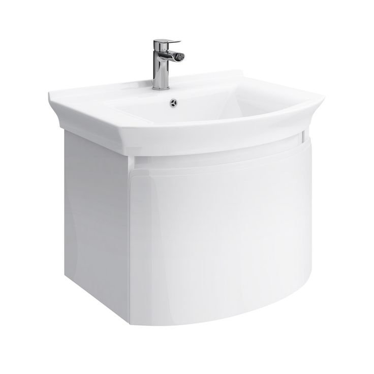 Hudson Reed Canopy Wall Mounted 1 Drawer Basin & Cabinet W600 x D475mm - White - FCA007 at Victorian Plumbing UK