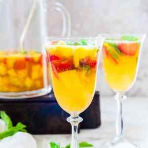 Made with a motley of of fruits like pineapple, strawberries, sparkling water, mint, Virgin Strawberry Pineapple Sangria Recipe is a perfect beverage.