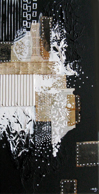 pintura abstracta sobre lienzo. arte moderno blanco y por ancagray                                                                                                                                                                                 Más