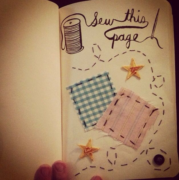 Wreck this Journal: Sew this page   Wreck this journal ...  Wreck This Journal Sew This Page