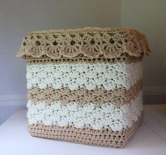 Easy Crochet Basket Pattern Square Crochet Basket Crochet Storage Crochet Cover Pattern Child's Toy Box No. 99