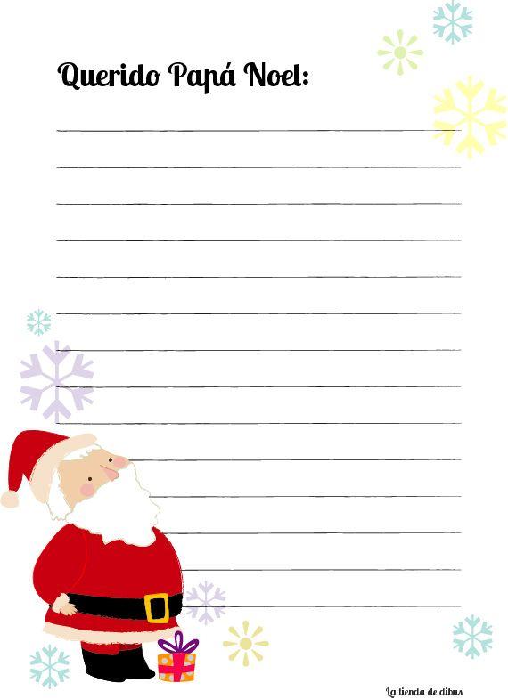 Carta Papá Noel http://latiendadedibus.blogspot.com.es/2013/11/carta-para-papa-noel-gratis.html