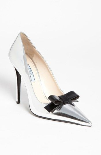 Prada Pointed Toe Pump available at #Nordstrom-- If the Wicked Witch existed for real-- these would be her shoes and I love them!