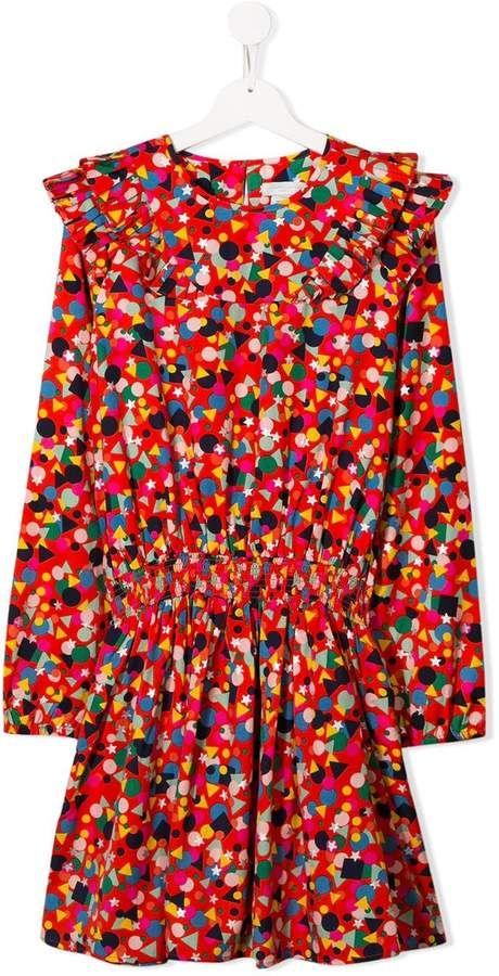 Stella McCartney TEEN geometric print dress