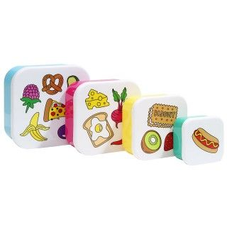 Icons snack boxes - set of 4 - Travel Accessories - Bags & Travel - Gifts & Home