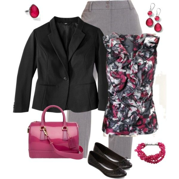 Gray slacks outfit Untitled #37, created by mamaha on Polyvore