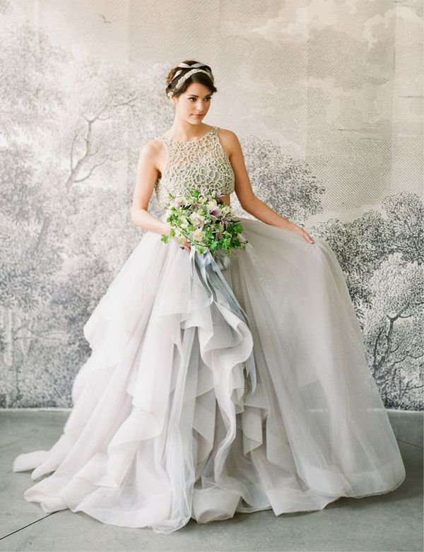Glamorous gray gown