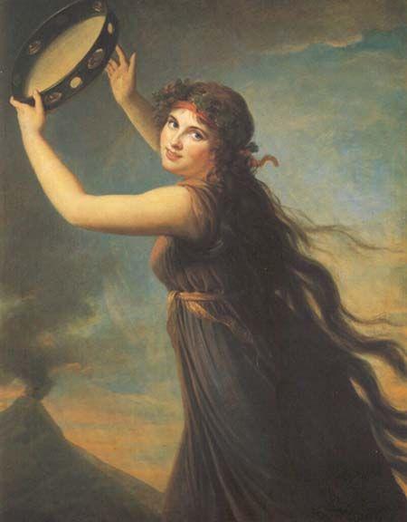 Élisabeth Vigée Le Brun - Emma, Lady Hamilton en Bacchante