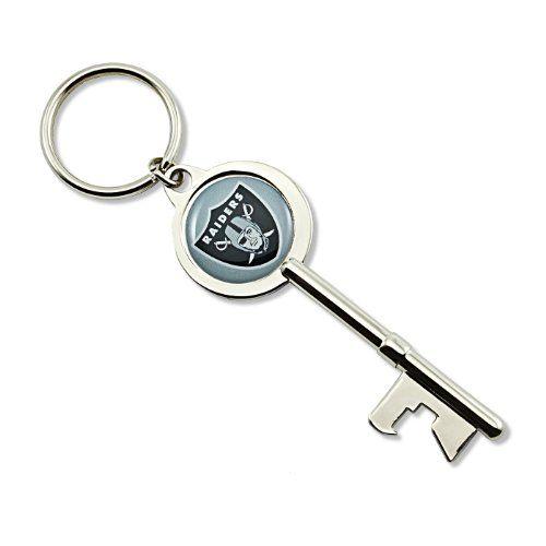 NFL Oakland Raiders Skeleton Key Bottle Opener Key Ring -- Want additional info? Click on the image.