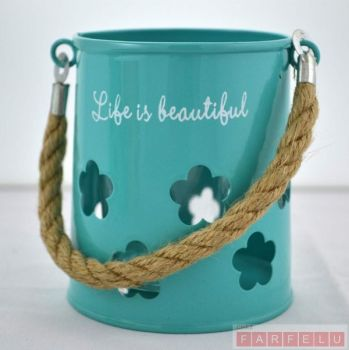 Porte-bougie turquoise | acceuil