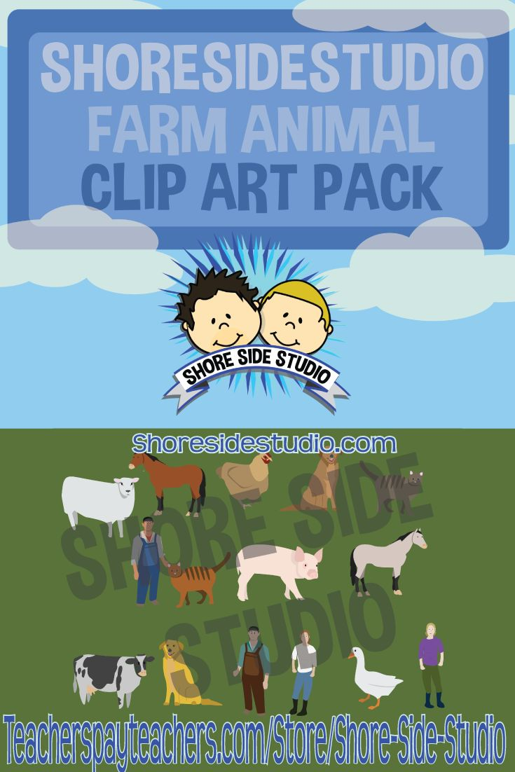 The latest product from Shore Side Studio is a farm animals clip art pack. For more information please feel free to check it out at https://www.teacherspayteachers.com/Product/Farm-Animal-Clip-Art-2470395