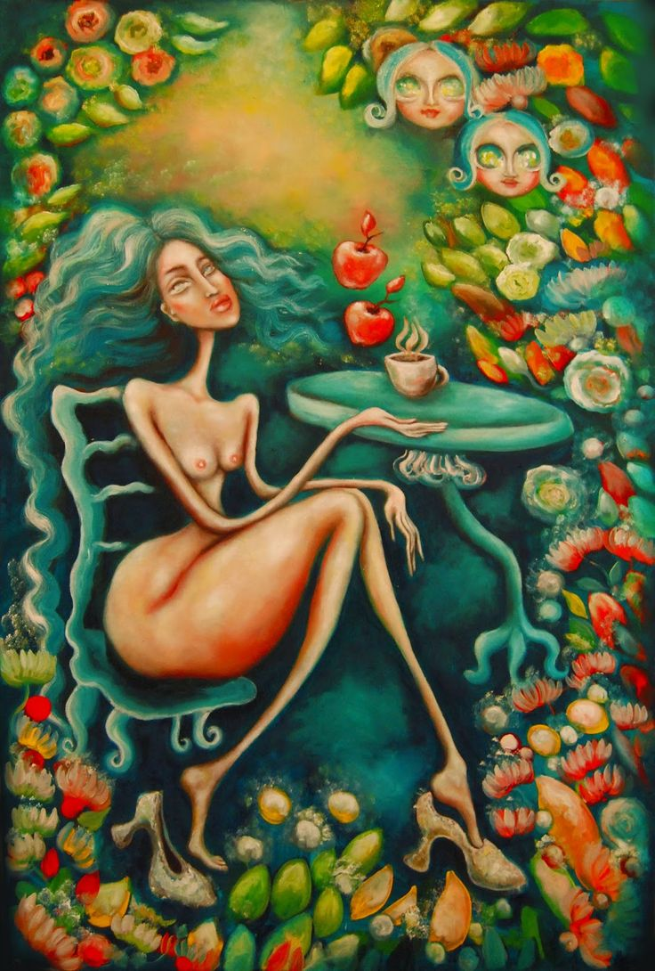 Paintings by Dana Stefania Apostol : Meditation in a sublime garden
