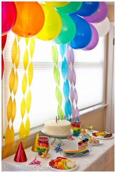 Rainbow Party Ideas #Parties