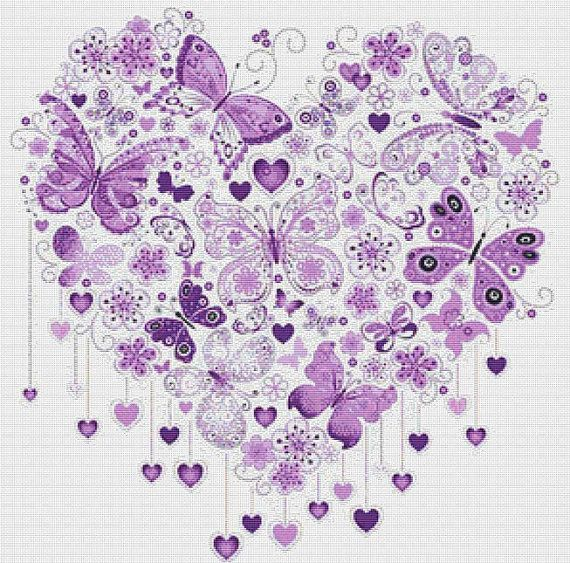 cross stitch patterns free butterfly - Google Search