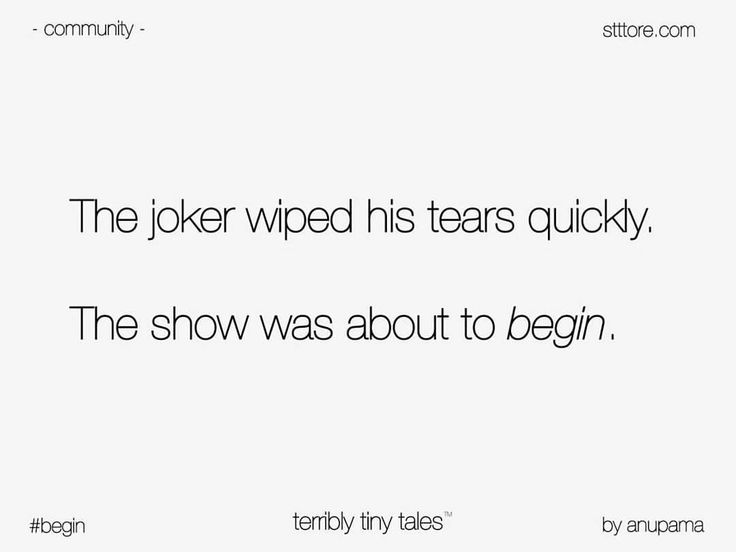 Anupama Nandakumar writes on 'begin', suggested by Terribly Tiny Tales. #word…
