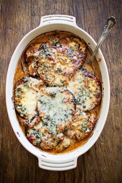 'Eggplant Gratin' by Edna Lewis, from cook book 'The Taste of Country Cooking'.