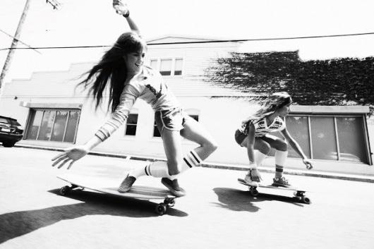 : Skating Girls, Old Schools, Skater Girls, Girls Generation, Larry Bartholomew, Longboards Girls, Skateboard Girls Longboards, Photo, Long Boards