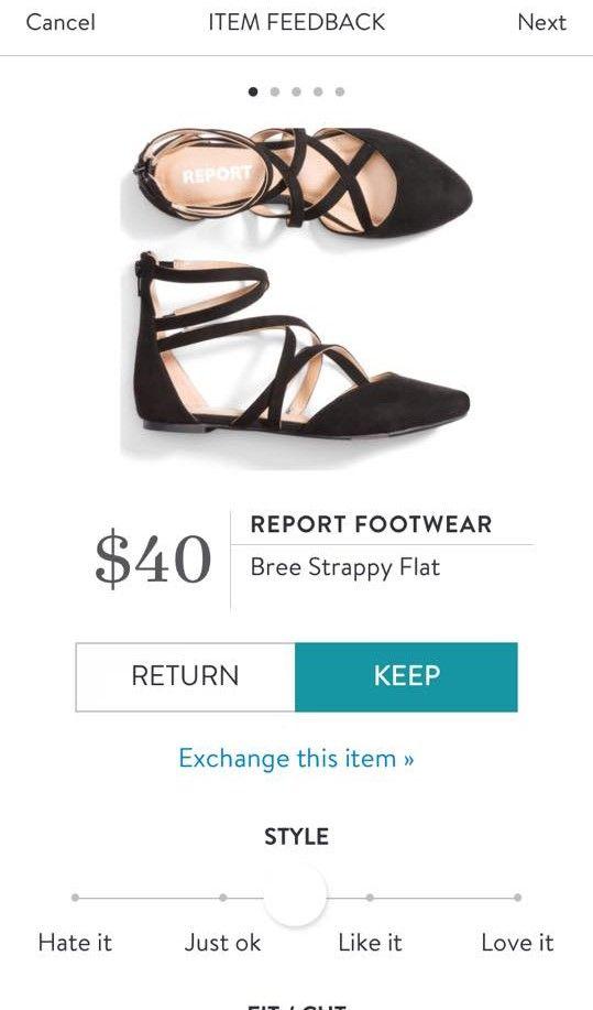 REPORT FOOTWEAR Bree Strappy Flat from Stitch Fix. https://www.stitchfix.com/referral4292370