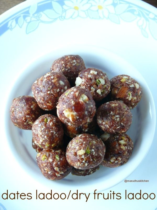 Dates and Dry Fruits Ladoo Recipe http://www.foodiehalt.com/dates-dry-fruits-ladoo-recipe/#dates #dryfruit