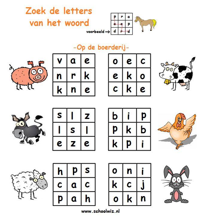 Verborgenwoord 1 Boerderij dieren(2).png (692×726)