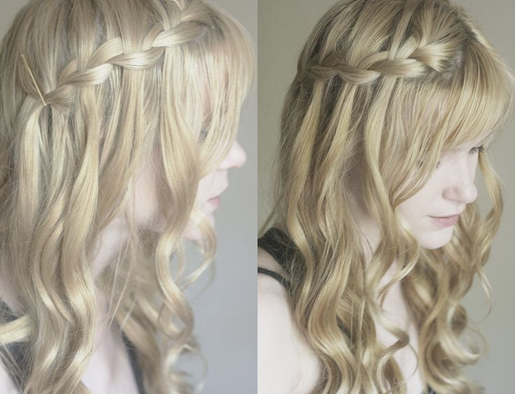 Bridesmaid Hair Option 3 ... Maybe softly sweep the sides up? or leave down?