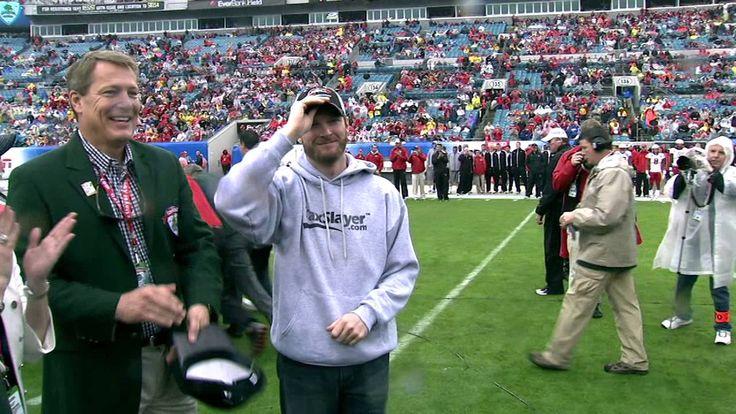 Dale Earnhardt Jr TaxSlayer.com Gator Bowl Coin Toss