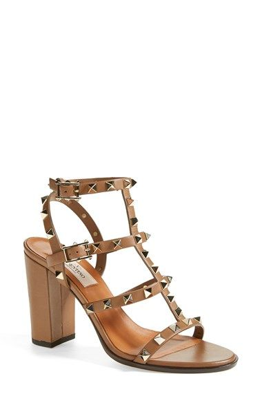 Free shipping and returns on Valentino 'Rockstud' T-Strap Sandal (Women) at Nordstrom.com.