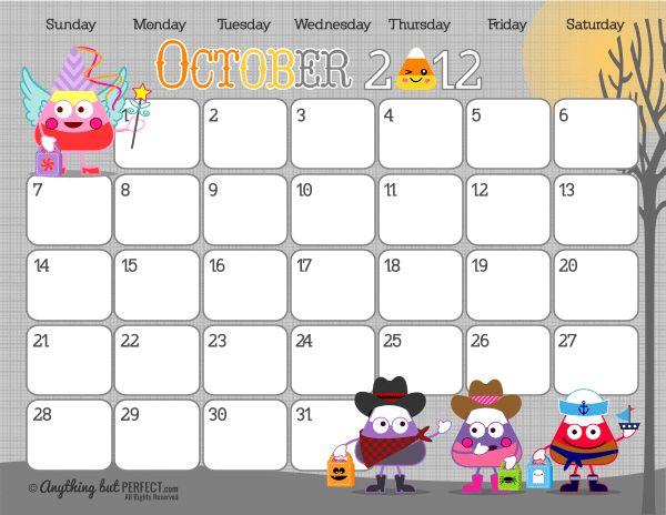 October 2012 Chores