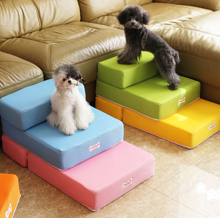 Cute pet bed Stairs for small dog breathable fabric pet steps 2-steps with detachable soft Cover