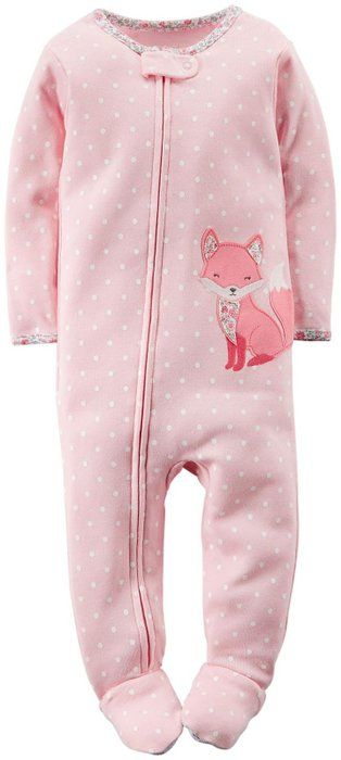 Carter's Baby Girls' Graphic Print Footie (Baby) - Fox - 12M