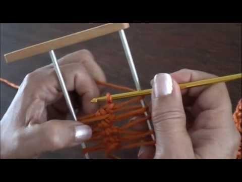 Horquilla: variaciones al tejer las tiras (Parte 1)   Fork: variations to the weave the strips (part)