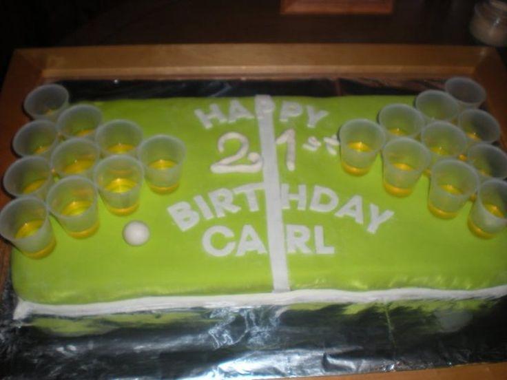 Beer Pong 21St Birthday Cake on Cake Central
