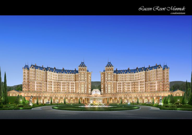"Condominium Type-1 (Baroque Style), ""DAEMYUNG LUCEEN RESORT : Culture Theme Resort CG Perspective View / ""대명 루첸 리조트"" 콘도미니엄 타입1. 투시도"
