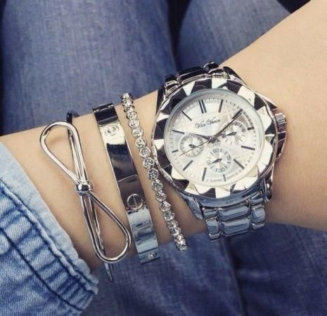 guess watch, Stylish watches with bracelets http://www.justtrendygirls.com/stylish-watches-with-bracelets/