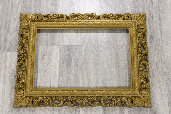 Gold And White Picture Frame Photo Booth Prop Wedding Decor Hanging Frames Lightweight Frames Gold Plastic Frame White Plastic Frame White Picture Frames Antique Picture Frames Hanging Frames