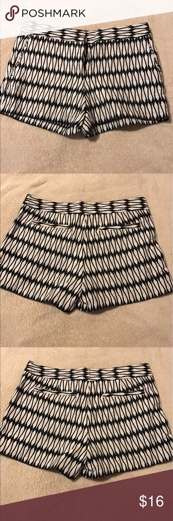 Joe Fresh Shorts Black & off-White shorts, loose fit throughout legs Joe Fresh Shorts
