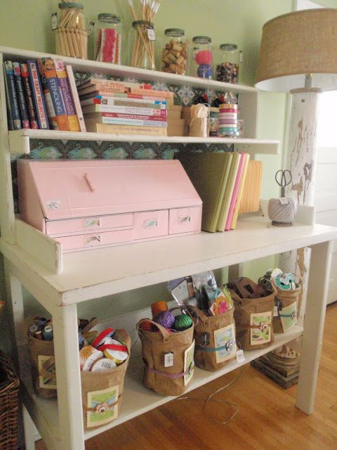 Hammers and High Heels: Scrapbook Room, Crafts Area, Crafts Spaces, Vintage Crafts, Crafts Room, Room Ideas, High Heels, Storage United, Pots Benches
