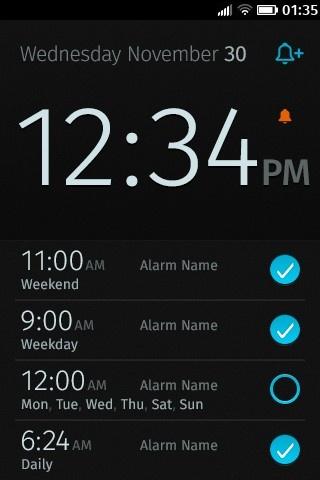 Reloj digital con 4 alarmas